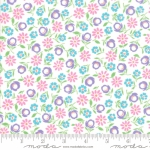 MODA FABRICS - Good Day - White Purple - #3126-