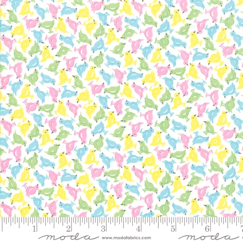 MODA FABRICS - Good Day - White Yellow