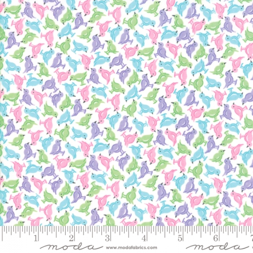 MODA FABRICS - Good Day - White Purple