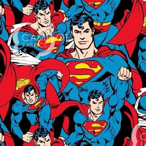 CAMELOT FABRICS - Superman - Superman Crowd - Multi