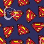 CAMELOT FABRICS - Superman - Superman Logo - Navy
