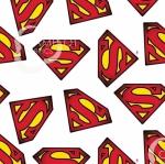 CAMELOT FABRICS - Superman - Superman Logo - White