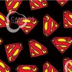 CAMELOT FABRICS - Superman - Superman Logo - Black