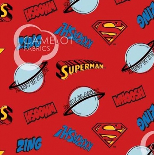 CAMELOT FABRICS - Superman - Superman Whap Toss - Red