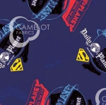 CAMELOT FABRICS - Superman - Superman Daily Planet -  Navy