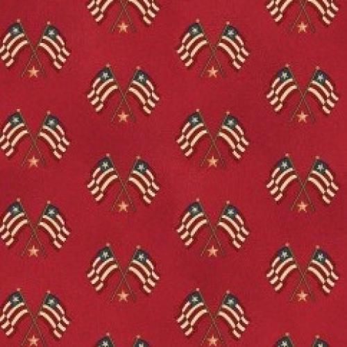 BENARTEX - Liberty Hill - Red/Flags