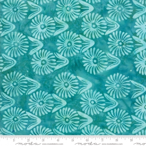 MODA FABRICS - Calypso - Daisies Turquoise - K80024-