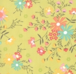MODA FABRICS - Sunnyside Up - Cucumber Flowers