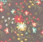 MODA FABRICS - Sunnyside Up - Gray Flowers