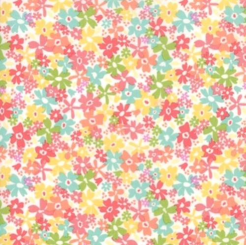 MODA FABRICS - Sunnyside Up - White Floral