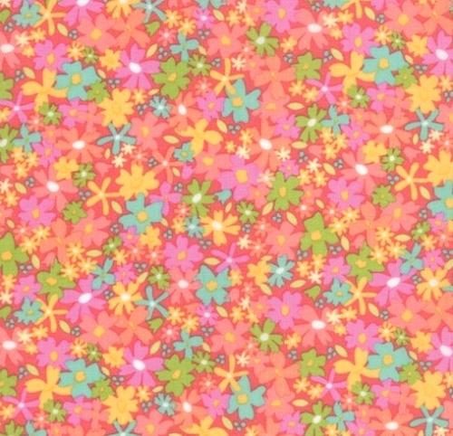 MODA FABRICS - Sunnyside Up - Salmon Floral - #2126-