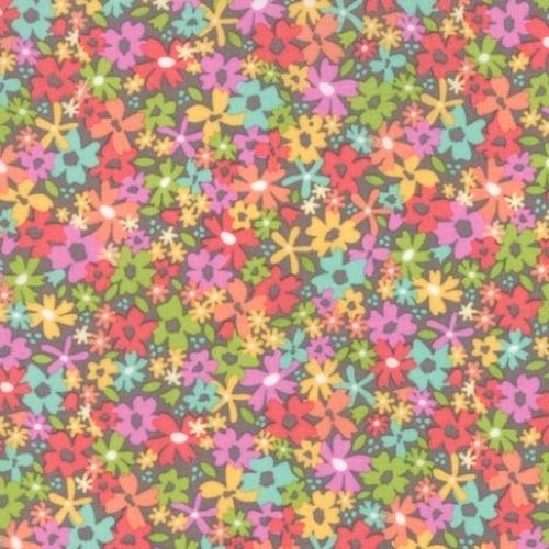MODA FABRICS - Sunnyside Up - Gray Floral