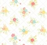 MODA FABRICS - Sunnyside Up - White Posies