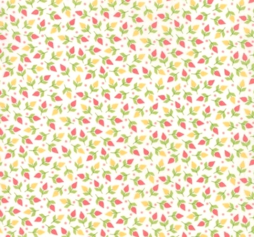 MODA FABRICS - Sunnyside Up - White Mini Floral