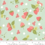 MODA FABRICS - Strawberry Jam - Strawberries Mint