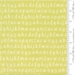 MODA FABRICS - Strawberry Jam - Alphabet Celery