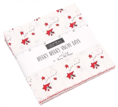 Merry Merry Snow Days Charm Pack by Bunny Hill Designs Moda Precuts