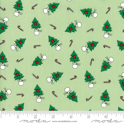 MODA FABRICS - Merry Merry Snow Days - Spearmint