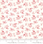 MODA FABRICS - My Redwork Garden - Cream Red