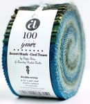 Andover - Secret Stash - Cool Tones 2.5 inch Roll by Laundry Basket Quilts