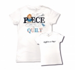 White 2XL Cut Piece Press & Quilt T-Shirt