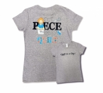 Clearance - Gray 2X Cut Piece Press & Quilt T-Shirt