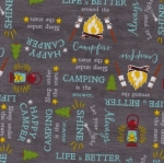 WILMINGTON PRINTS - Gone Glamping - Words Gray