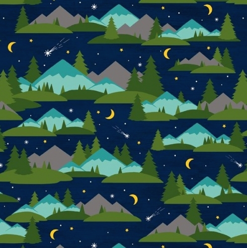 WILMINGTON PRINTS - Gone Glamping - Landscape Night