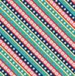 WILMINGTON PRINTS - Gone Glamping - Stripes Red/Blue
