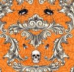 WILMINGTON PRINTS - Gone Batty - Orange