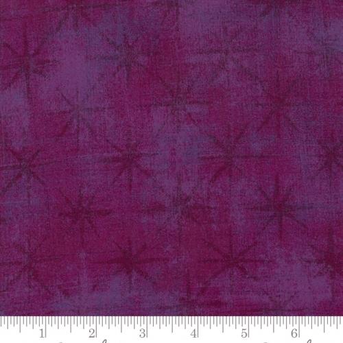 MODA FABRICS - Grunge - Seeing Stars - Plum