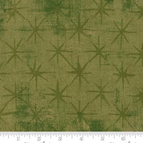 MODA FABRICS - Grunge - Seeing Stars - Vert