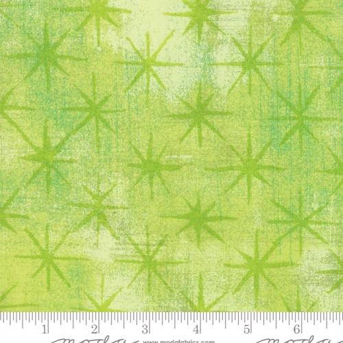 MODA FABRICS - Grunge - Seeing Stars - Key Lime