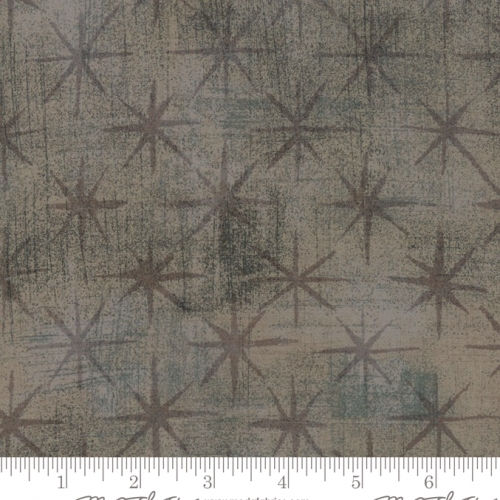 MODA FABRICS - Grunge - Seeing Stars - Grey Courture
