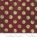 MODA FABRICS - Grunge Hits The Spot Metallic - Burgundy