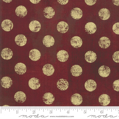 MODA FABRICS - Grunge Hits The Spot Metallic - Burgundy
