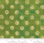 MODA FABRICS - Grunge Hits The Spot Metallic - Zesty Apple