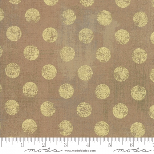 MODA FABRICS - Grunge Hits The Spot Metallic - Paper Bag