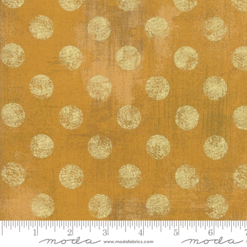 MODA FABRICS - Grunge Hits The Spot Metallic - Harvest Gold