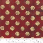 MODA FABRICS - Grunge Hits The Spot Metallic - Red Berry