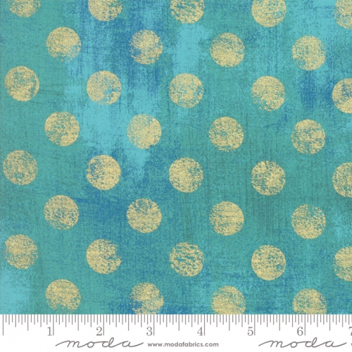 MODA FABRICS - Grunge Hits The Spot Metallic - Peacock