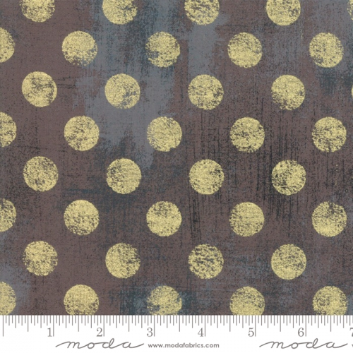 MODA FABRICS - Grunge Hits The Spot Metallic - Lead