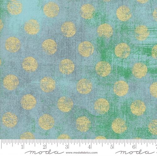MODA FABRICS - Grunge Hits The Spot Metallic - Blue