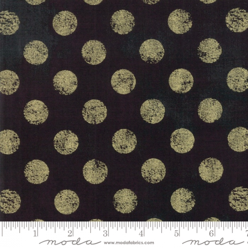 MODA FABRICS - Grunge Hits The Spot Metallic - Onyx