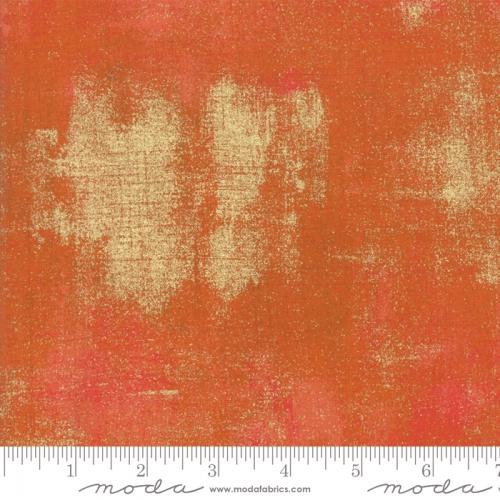 Skinny - SK2368- 2/3 yds - MODA FABRICS - Grunge Metallic - Pumpkin