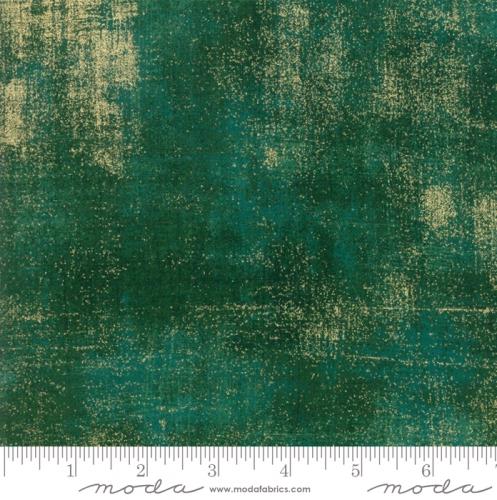 MODA FABRICS - Grunge Metallic - Pine