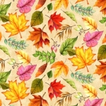 WILMINGTON PRINTS - Happy Gatherings - Fall Leaves Cream