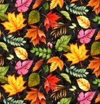 WILMINGTON PRINTS - Happy Gatherings - Fall Leaves Black