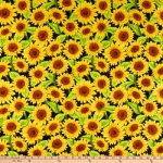 WILMINGTON PRINTS - Jardin Du Soleil - Black Sunflowers