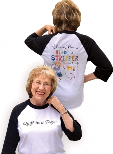 Black and White Eleanor Burns Made a Stripper out of Me!  Baseball T-Shirt  - Small